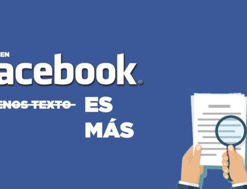 En Facebook menos texto es más